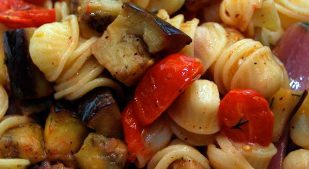 Roasted Eggplant with Orrechiette