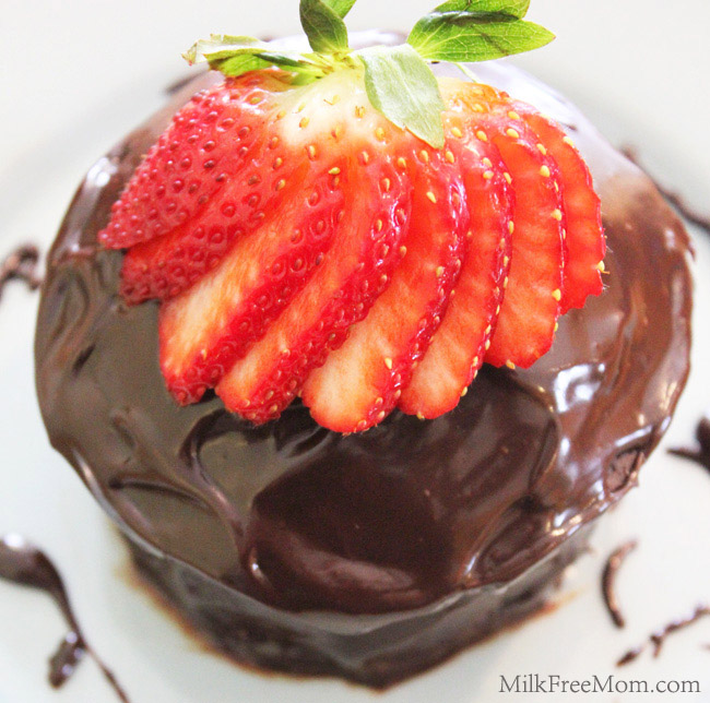 Dairy-Free Mini Chocolate Cake For Two