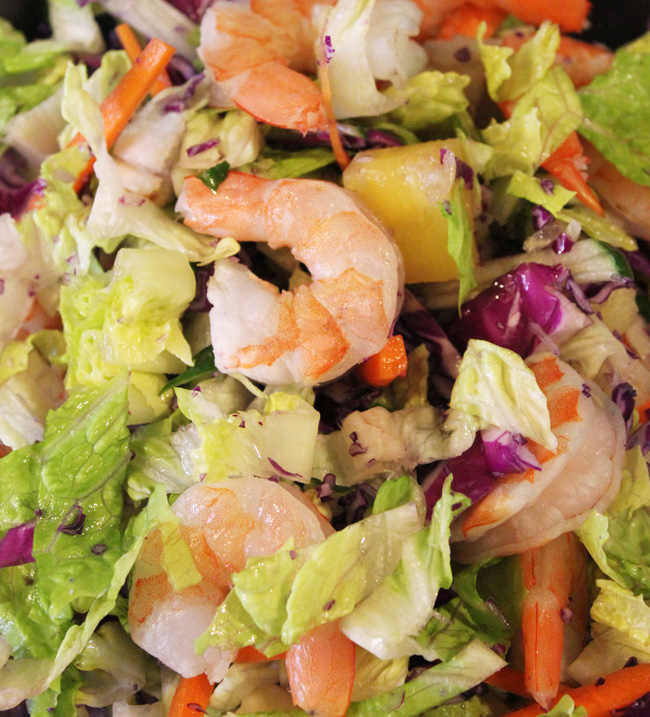 Grilled California-Style Chopped Salad With Shrimp Recipe ...