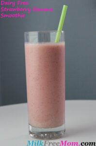 Dairy Free Strawberry Banana Smoothie