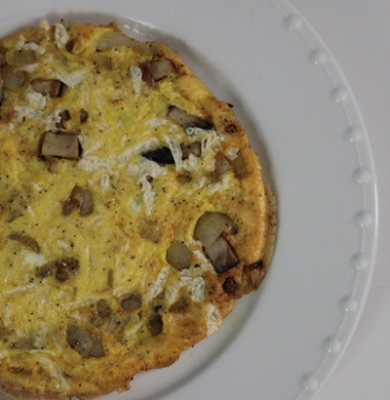 Mushroom Onion Dairy Free Frittata