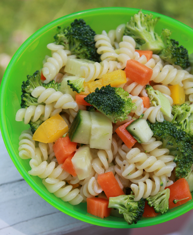 Easy Kid Friendly Pasta Salad