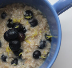 Dairy Free Lemon &amp; Blueberry Oatmeal