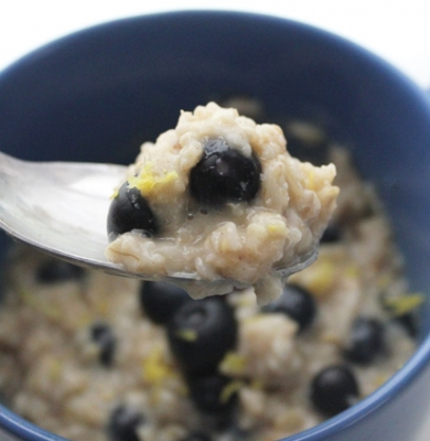 Dairy Free Lemon Blueberry Oatmeal