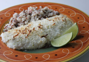 Coconut Lime Panko Crusted Cod