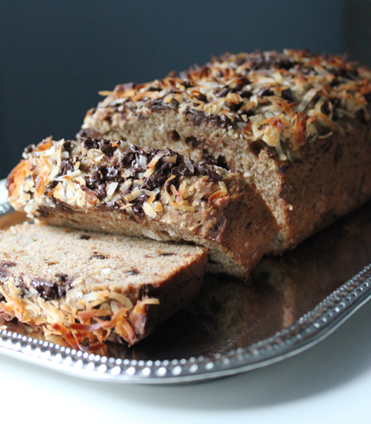 Coconut Chocolate Chip Banana Bread