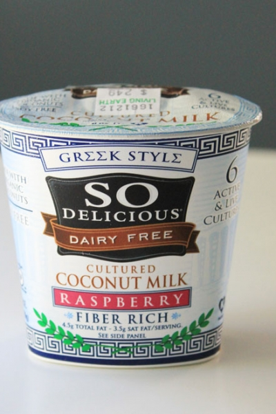 So Delicious Dairy Free Raspberry Greek Yogurt