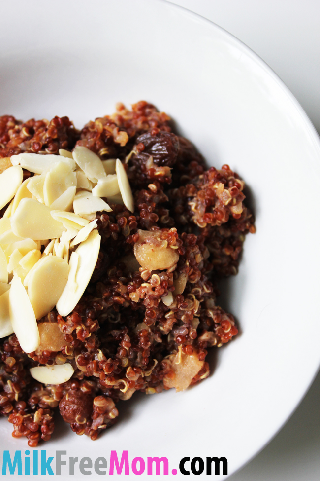 ... Dairy Free Recipes & Products » Apple Cinnamon Breakfast Quinoa