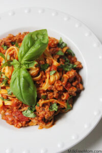 Linguine with Turkey Ragu