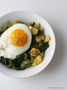 Spinach Potato Breakfast Bowl