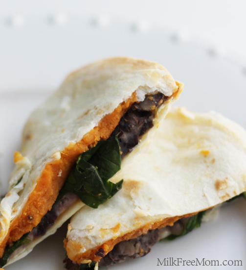 Sweet Potato Spinach Quesadillas