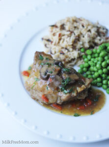 Chicken Thighs Briaised in Mushroom Sauce