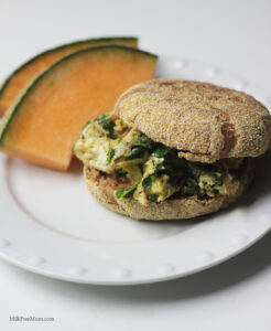 Baby Kale and Basil Breakfast Sandwich