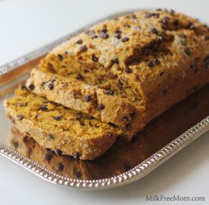 Coconut Chocolate Chip Pumpkin Bread