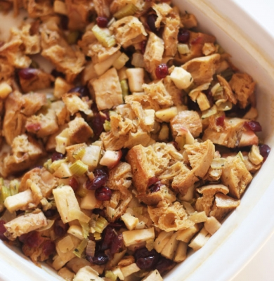 Dairy Free Apple Cranberry Stuffing