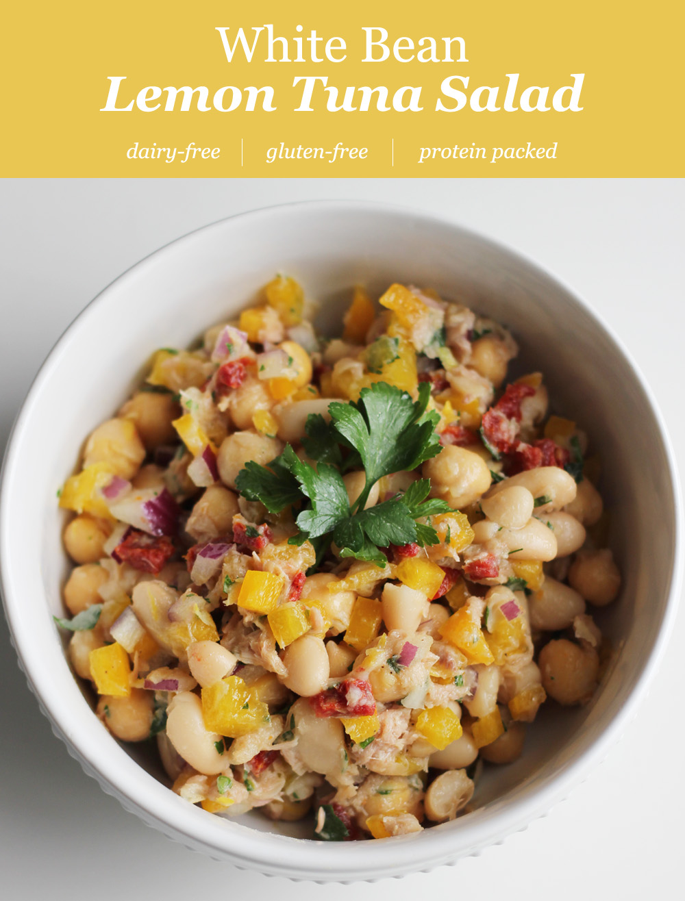White Bean Lemon Tuna Salad