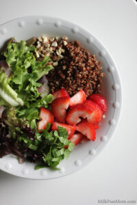 Strawberry Mint Quinoa Salad