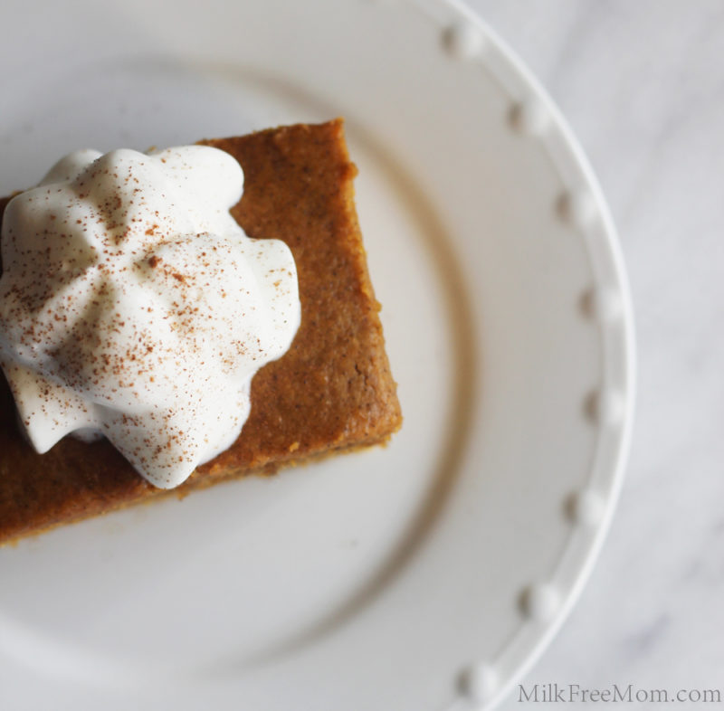 Vegan Pumpkin Cake with Whipped Topping