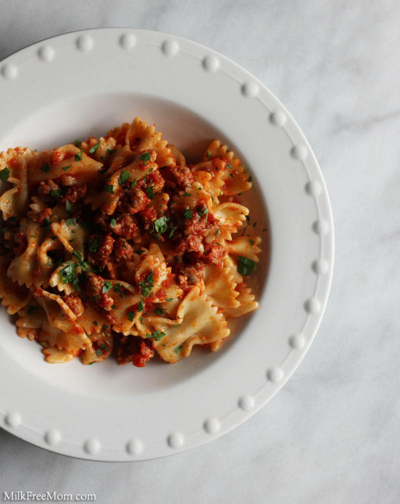 Easy Dairy-Free Pasta and Sausage