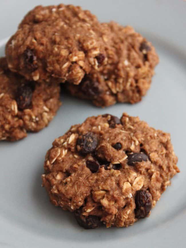 Dairy & Egg Free Oatmeal Raisin Cookies