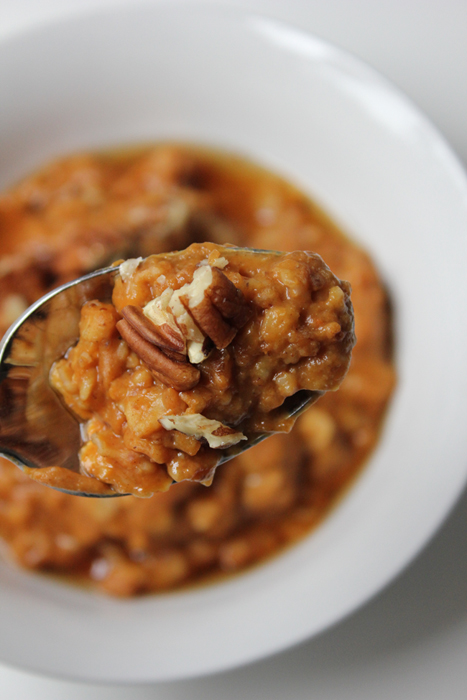 Spoonful of Pumpkin Flax Oatmeal