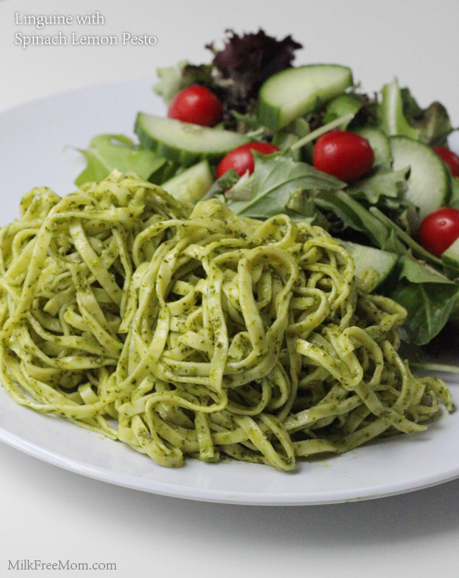 Linguine with Spinach Lemon Pesto
