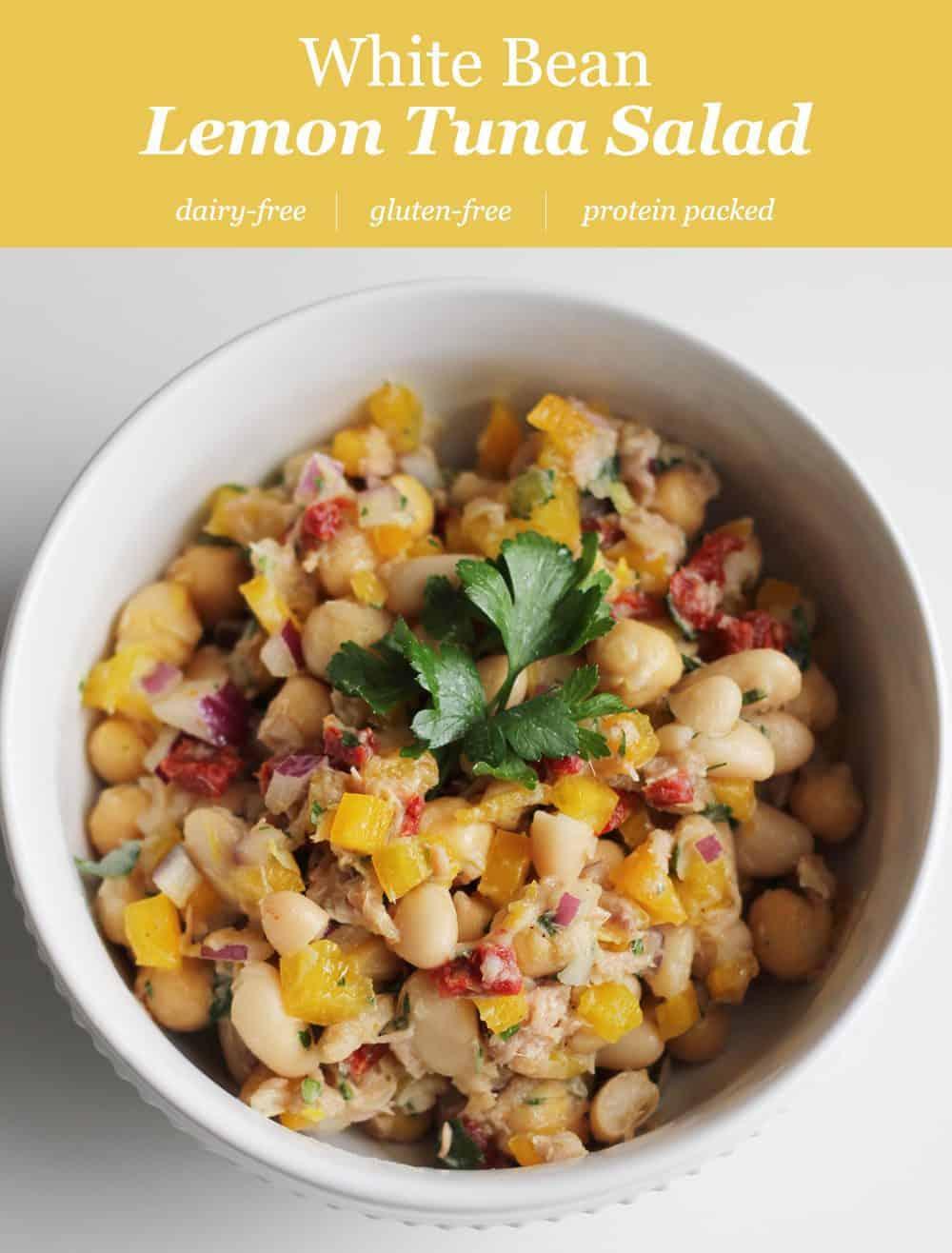 White Bean Lemon Tuna Salad