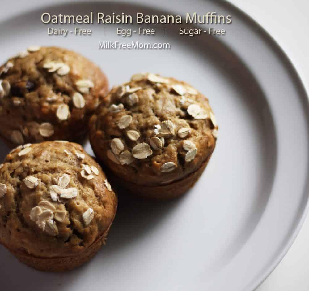 Oatmeal Raisin Banana Muffin