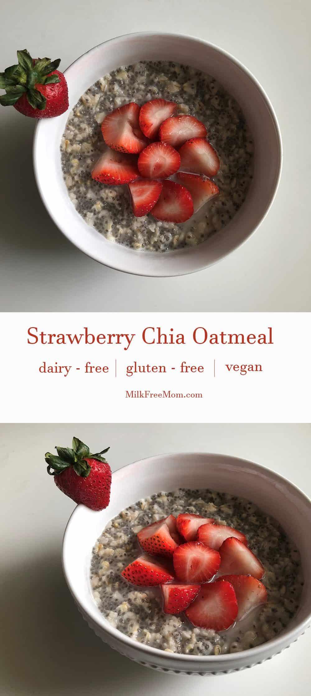 Strawberry Chia Oatmeal Pinterest
