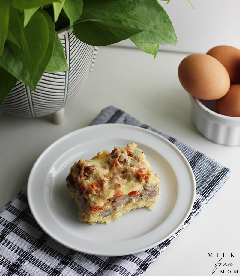 milk free egg casserole