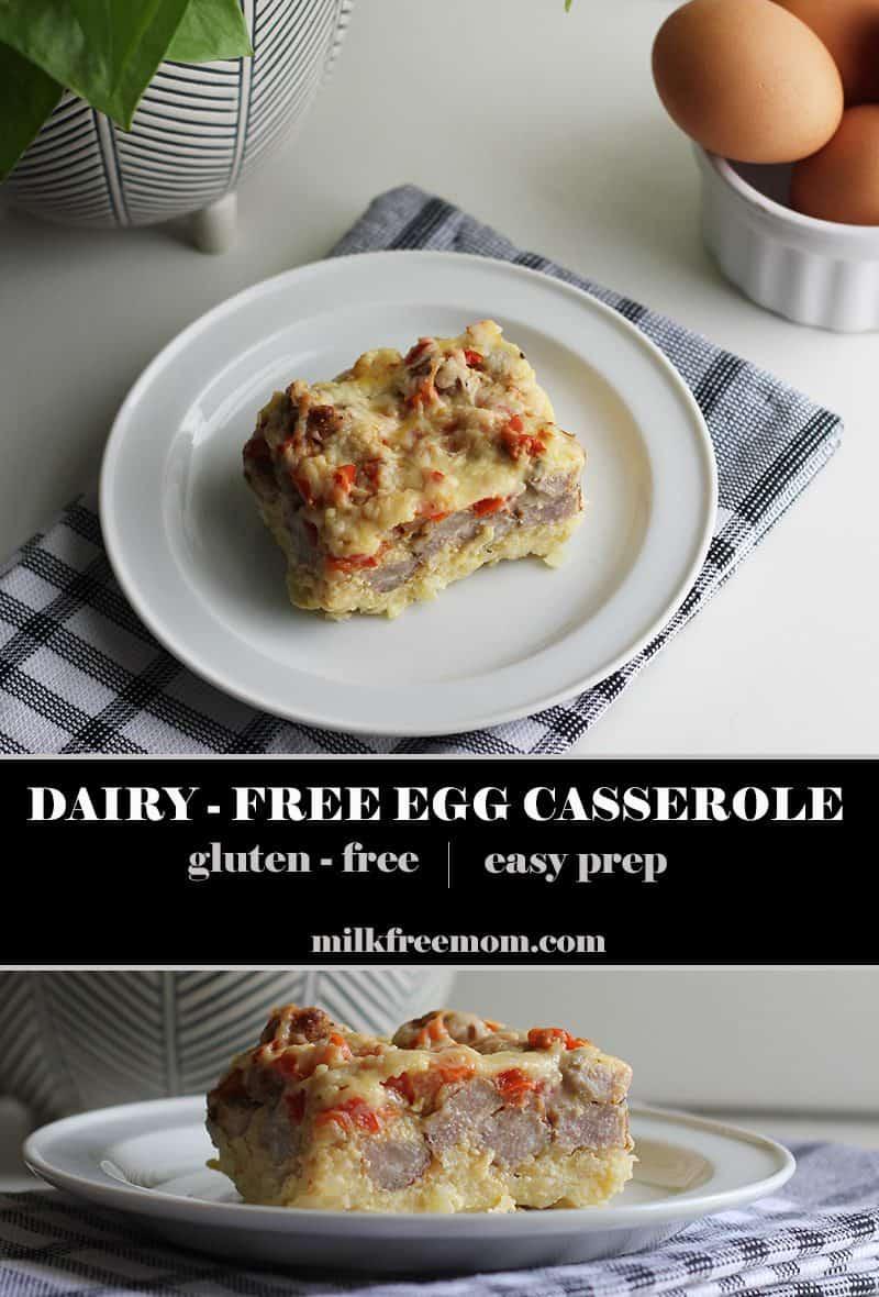 dairy free egg casserole pin