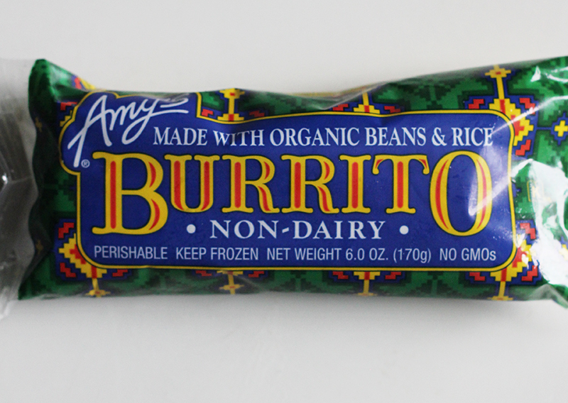 dairy free burrito from Amy's