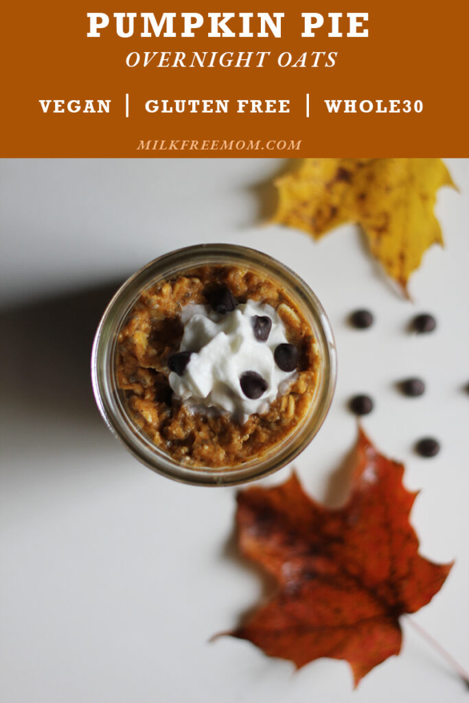 Milk Free Overnight Pumpkin Oats