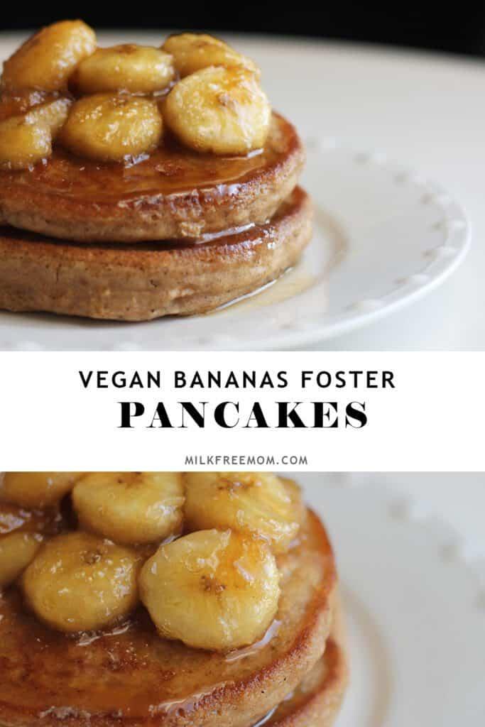 Vegan Bananas Foster Pancakes