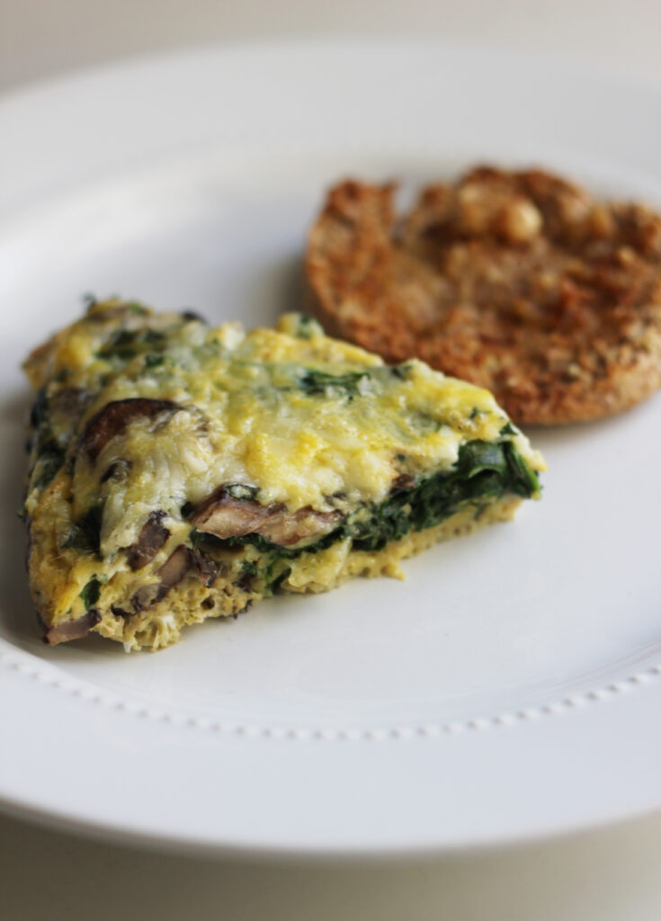 dairy free mushroom spinach omelette